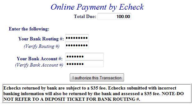 E-check example